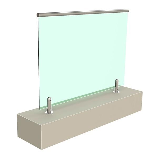 стеклянные ограждения на министойках