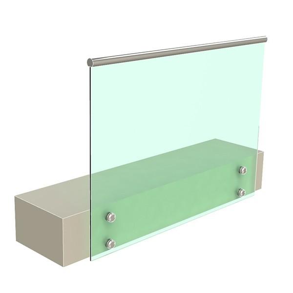 стеклянные ограждения на точечных креплениях