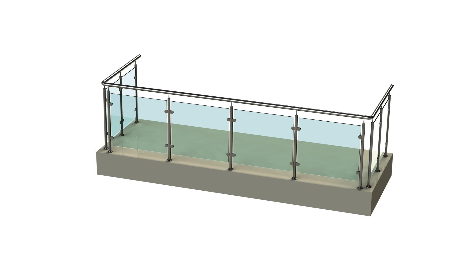 Стеклянные ограждения балконов, лоджий, парапетов. стеклянны.